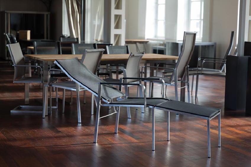 henrik bosse gartenstuhl hochlehner new york mit fu teil edelstahl textilene vom garten. Black Bedroom Furniture Sets. Home Design Ideas
