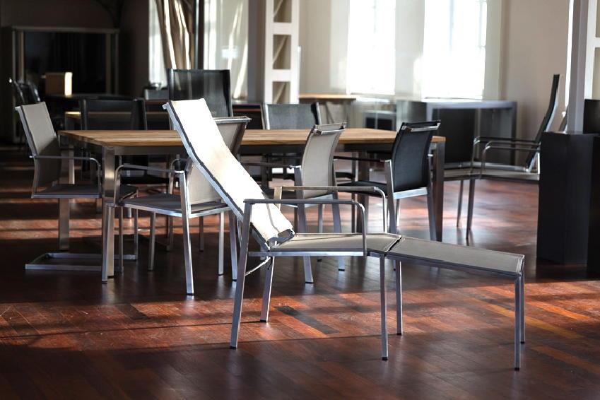henrik bosse gartenstuhl hochlehner new york mit fu teil edelstahl textilene gartenm bel. Black Bedroom Furniture Sets. Home Design Ideas