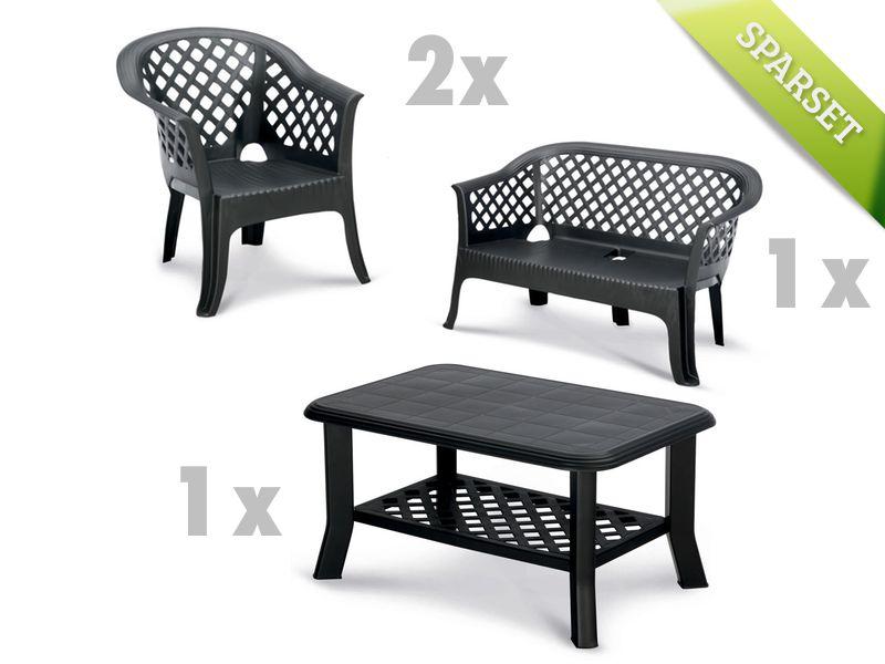 sitzgruppe best alassio loungegruppe set kunststoff. Black Bedroom Furniture Sets. Home Design Ideas