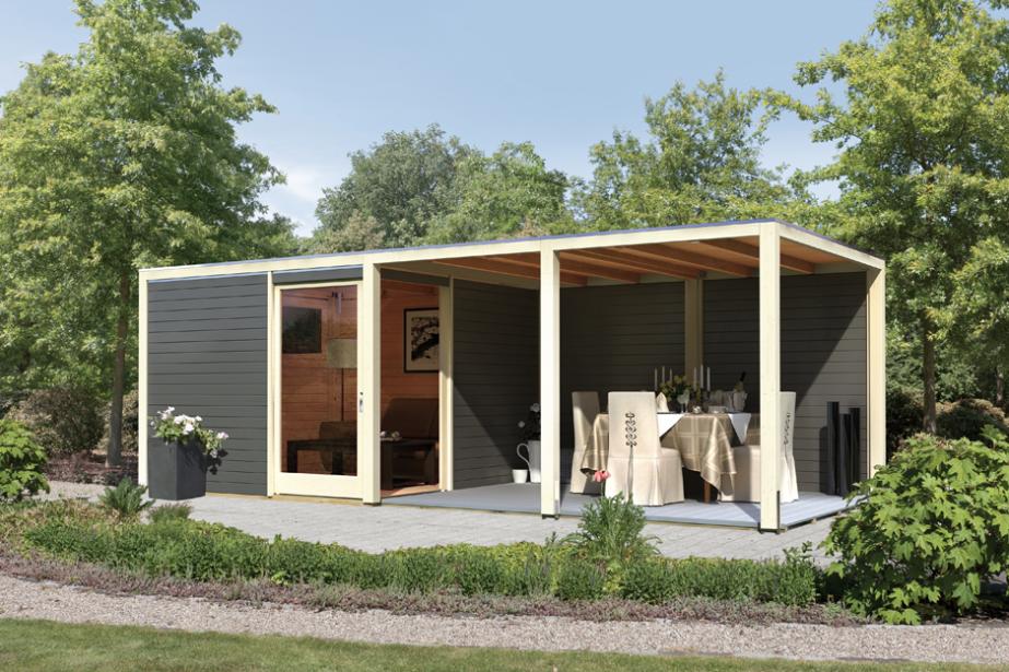 gartenhaus mit terrasse kaufen m bel inspiration und. Black Bedroom Furniture Sets. Home Design Ideas