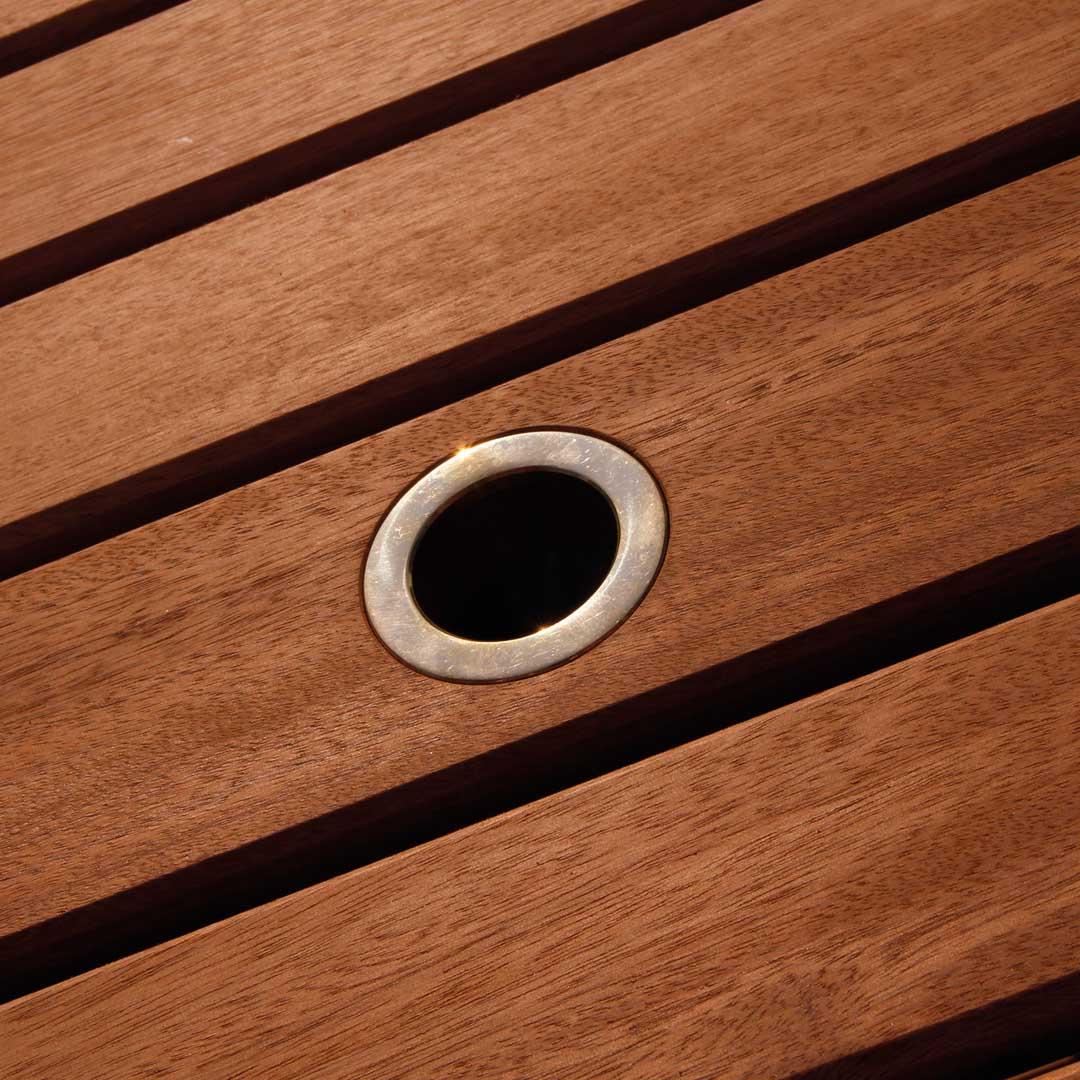 Gartentisch Mit Schirmloch Gartentisch Eukalyptus Holz Lxbxh Xx Cm