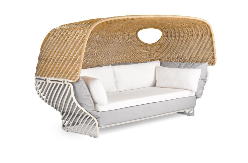dedon set tigmi tiefes sofa mit dach gartenm bel fachhandel. Black Bedroom Furniture Sets. Home Design Ideas