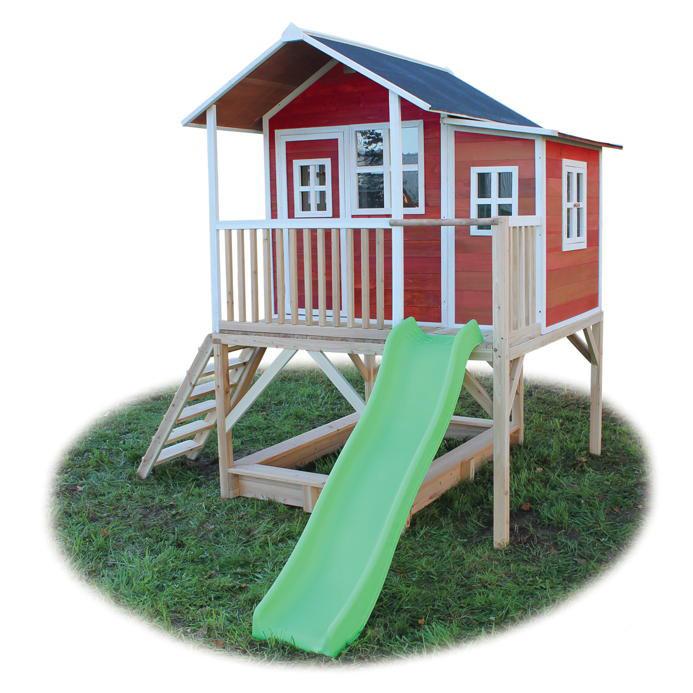 Bekannt Holz-Kinder-Spielhaus Rutsche Stelzen-Kinderspielhaus Stelzenhaus XO83