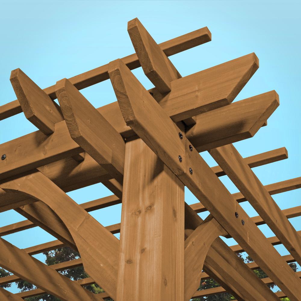 BOXXIS Pergola-Pavillon viereckig mittelbraun-lasiert 188x165x170 ...
