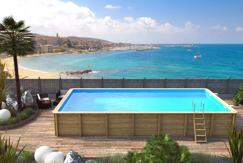 holzpool rocta8x4 schwimmbecken blockbohlen bausatz swimmingpool gartenpool vom garten fachh ndler. Black Bedroom Furniture Sets. Home Design Ideas