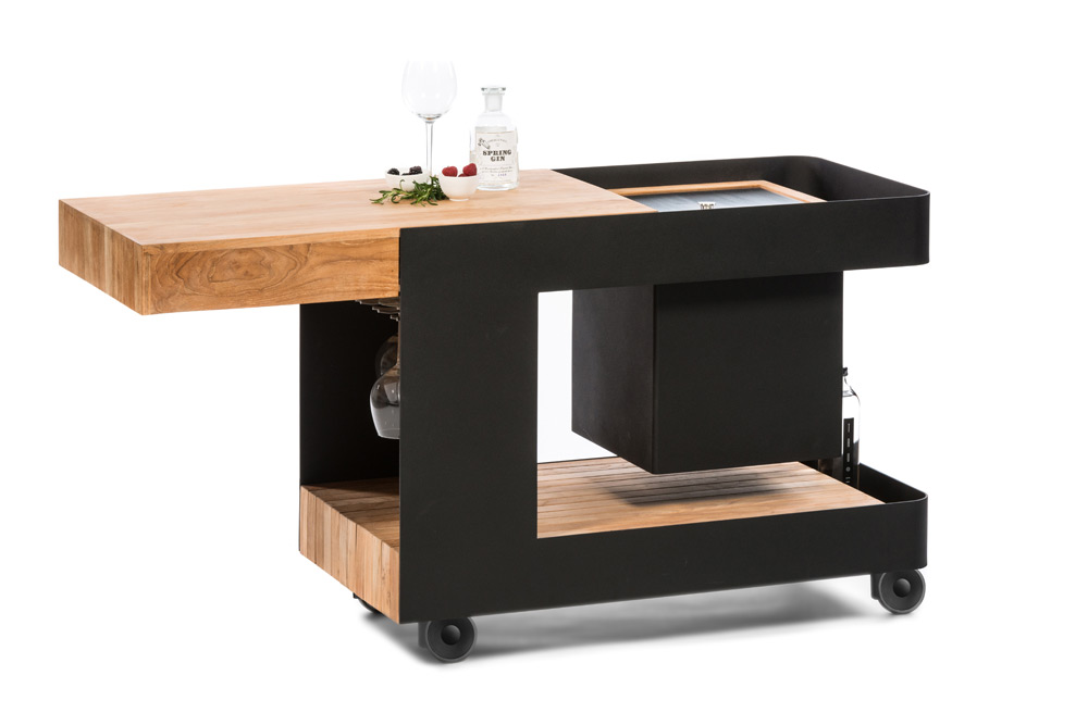 servierwagen indu iceboy mobile bar k hlbox eistrolley gartenk che luxuskomfort gartenm bel. Black Bedroom Furniture Sets. Home Design Ideas