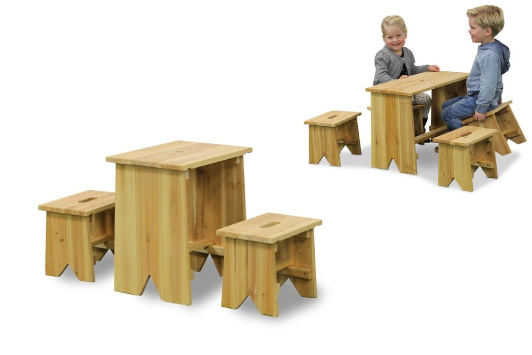 kinder holz gartenbank picknick set gr e xl holz sitzgruppe kindergarnitur vom spielger te. Black Bedroom Furniture Sets. Home Design Ideas