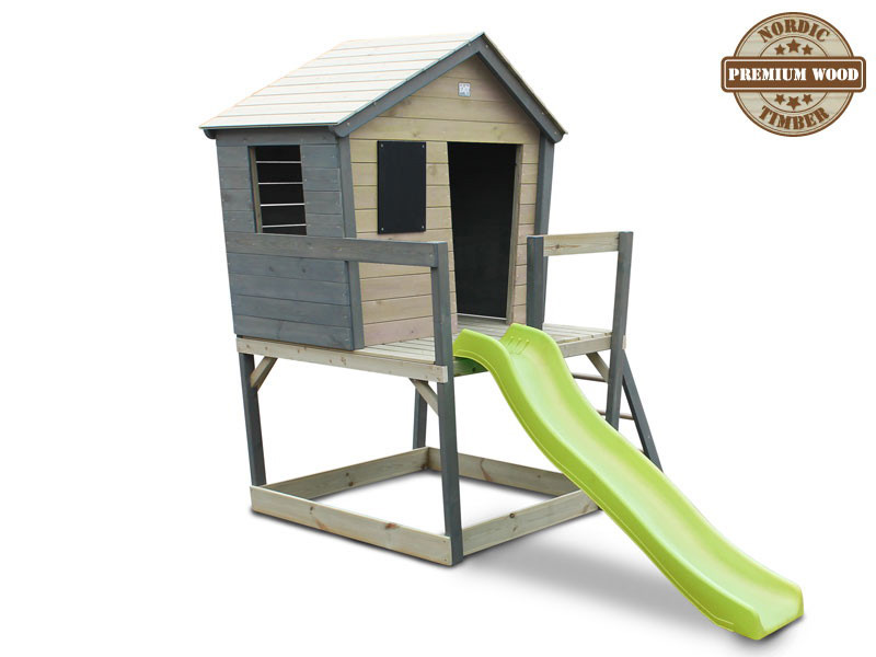 kinder spielhaus holz exit aksent kinderstelzenhaus comic rutsche vom spielger te fachh ndler. Black Bedroom Furniture Sets. Home Design Ideas