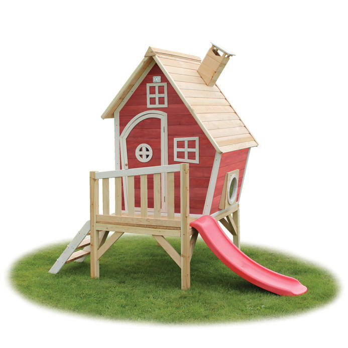 kinder spielhaus holz exit fantasia 300 kinderspielhaus stelzenhaus rotbraun vom sauna. Black Bedroom Furniture Sets. Home Design Ideas