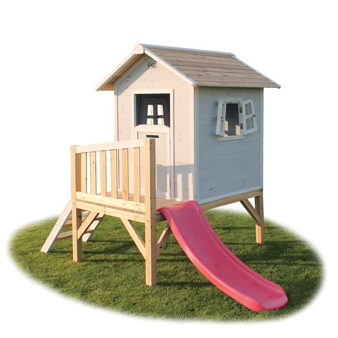 Kinder-Spielhaus EXIT Beach 300 Kinderspielhaus Stelzenhaus Holz grau