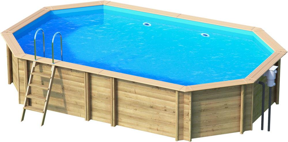 holzpool oval schwimmbecken blockbohlen bausatz swimmingpool gartenpool vom garten. Black Bedroom Furniture Sets. Home Design Ideas