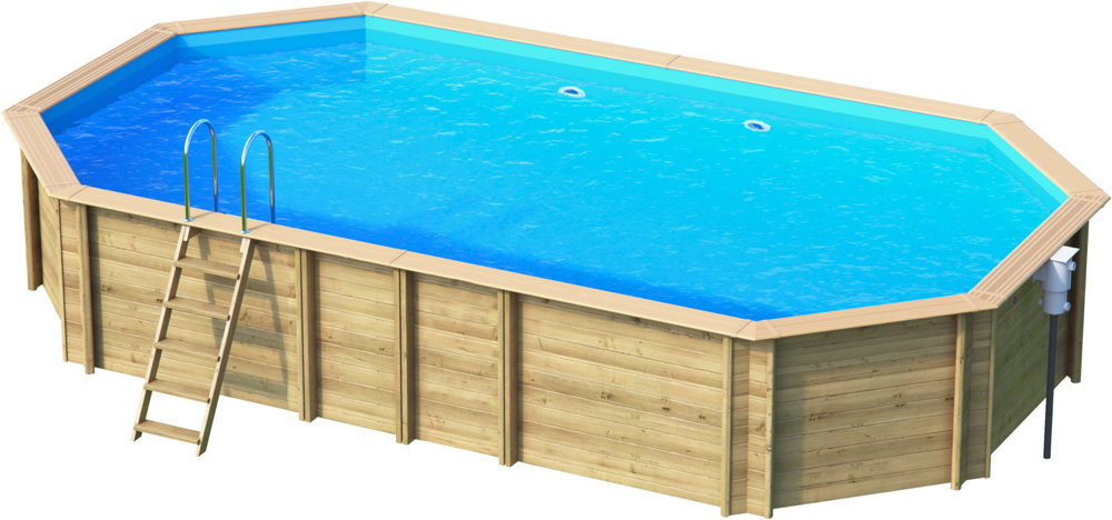 holzpool oval schwimmbecken blockbohlen bausatz swimmingpool gartenpool vom garten. Black Bedroom Furniture Sets. Home Design Ideas