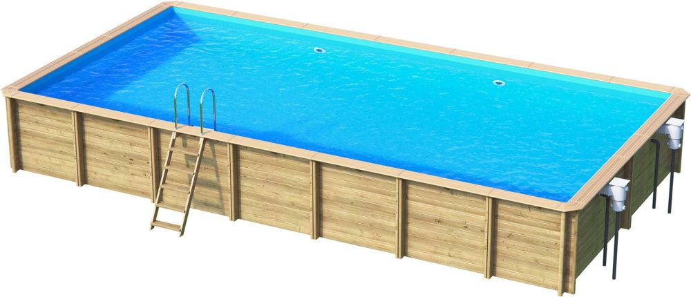 Holzpool Rocta8x4 Schwimmbecken Blockbohlen-Bausatz Swimmingpool Gartenpool