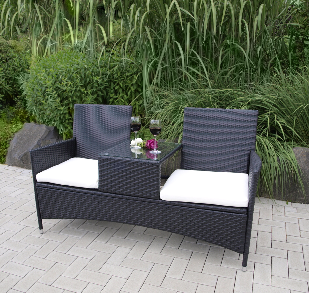 gartenbank rattan mit tisch 012729 eine. Black Bedroom Furniture Sets. Home Design Ideas
