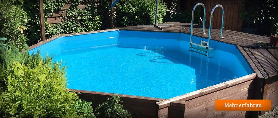 Pool im garten holz m belideen for Garten pool stahlwandbecken