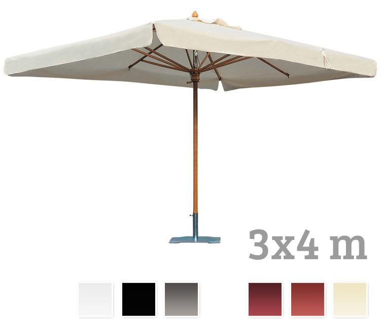 Sonnenschirm SCOLARO Palladio Standard 3x4 Stockschirm, Holzschirm Parasol