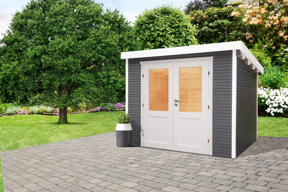 gartenhaus wolff finnhaus pulti softline 3024 vom garten fachh ndler. Black Bedroom Furniture Sets. Home Design Ideas