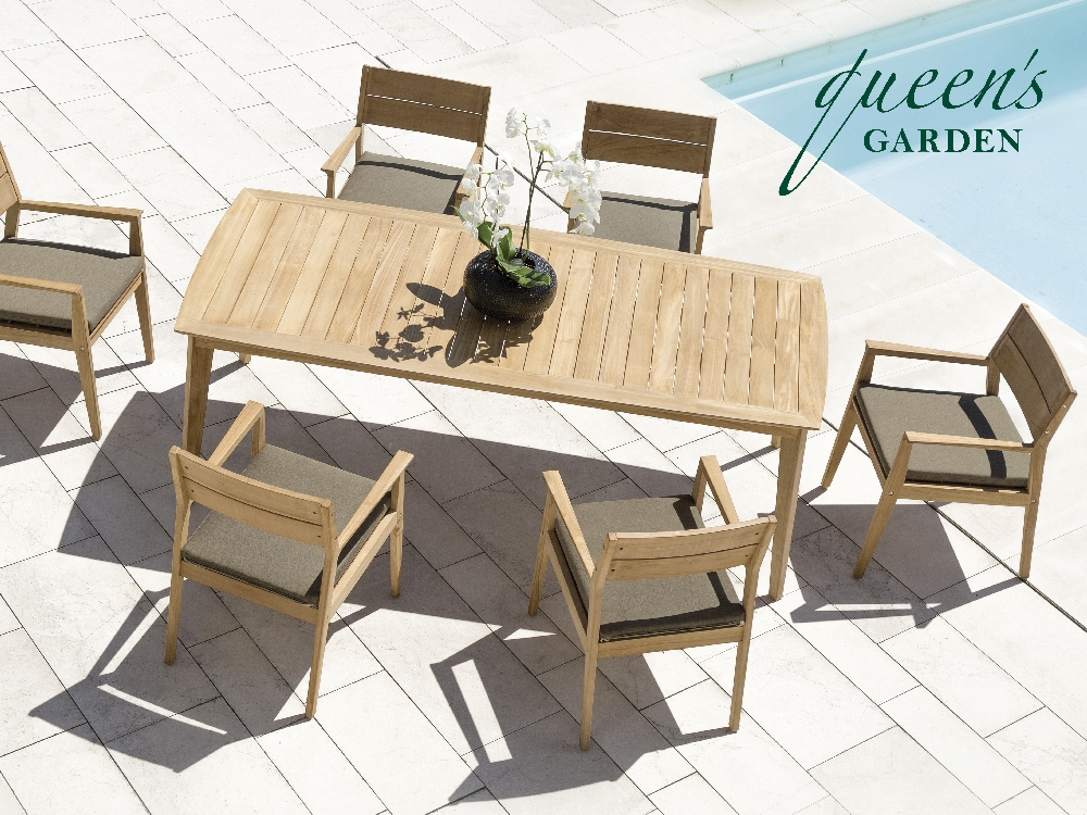 6er sitzgruppe queens garden kent teak fsc zertifiziert essgruppe gartenm bel fachhandel. Black Bedroom Furniture Sets. Home Design Ideas
