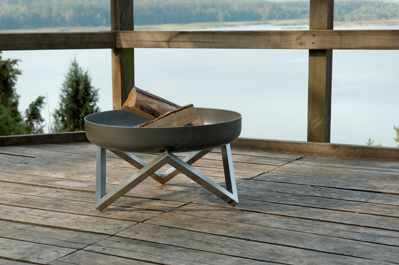 Svenskav design feuerschale z terrassenfeuer feuerstelle for Stuhl edelstahl