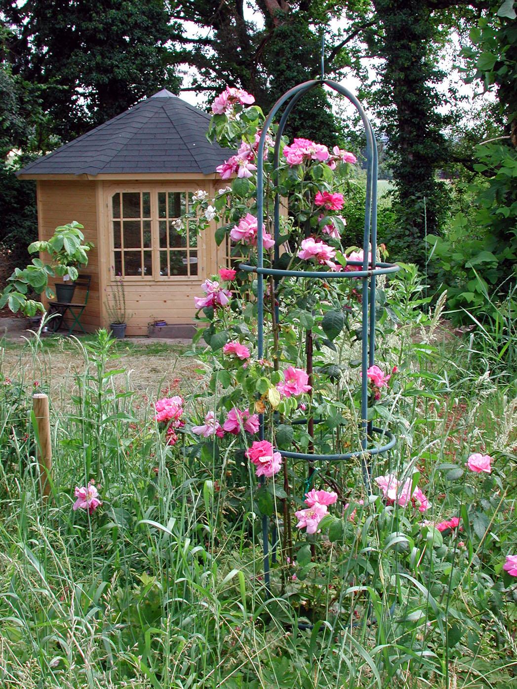 pavillon karibu roma 2 8 eck holz pavillon ebay. Black Bedroom Furniture Sets. Home Design Ideas