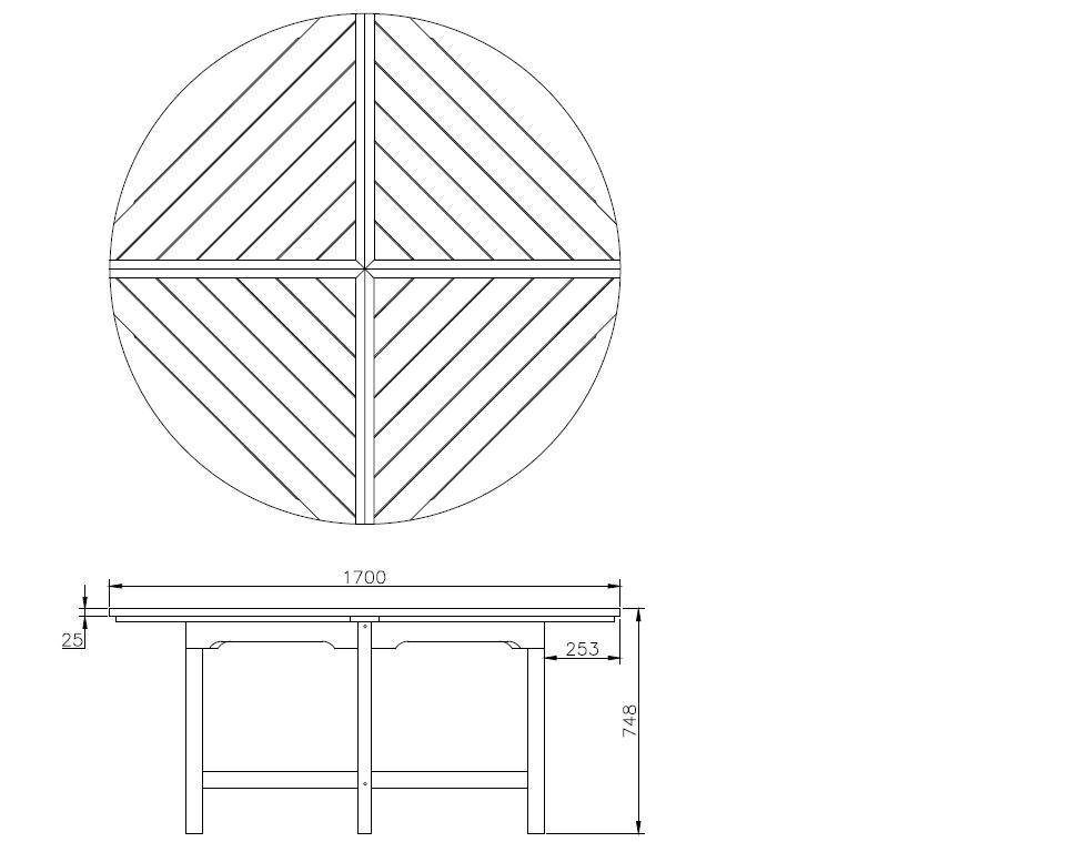 wolff runder tisch f r pavillon kreta 6 vom garten fachh ndler. Black Bedroom Furniture Sets. Home Design Ideas