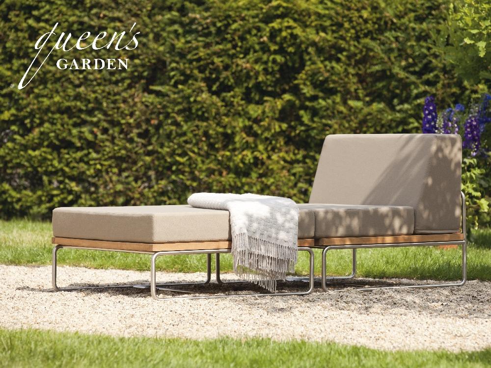 Lounge QUEENS GARDEN «BARO» Lounge-Gartenmöbel, Teak und Edelstahl ...
