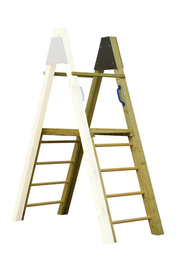 Schaukelanbau Podest KARIBU Leiteranbau aus Holz