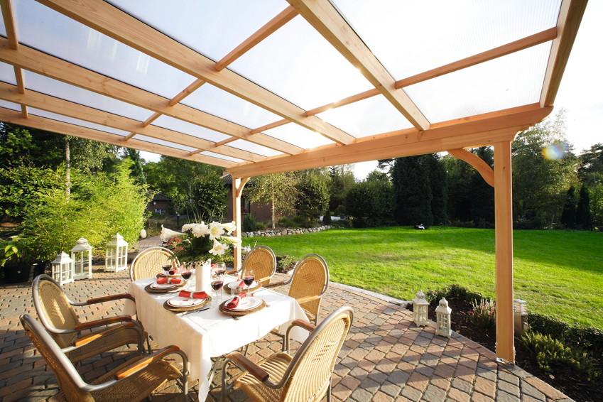 Skan Holz TerrassenUberdachung Ravenna ~   SKANHOLZ «Ravenna» Terrassendach  Holz Angebot