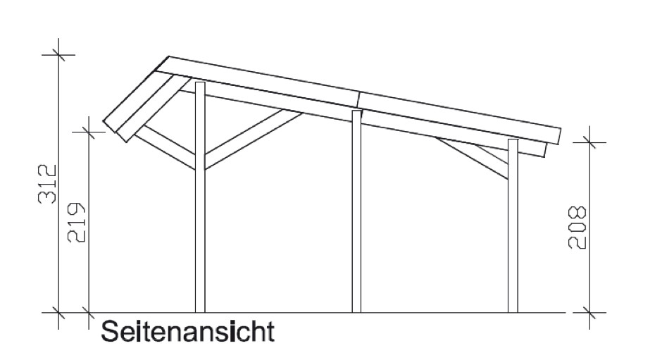 holz carport skanholz harz pultdach einzelcarport vom garten fachh ndler. Black Bedroom Furniture Sets. Home Design Ideas