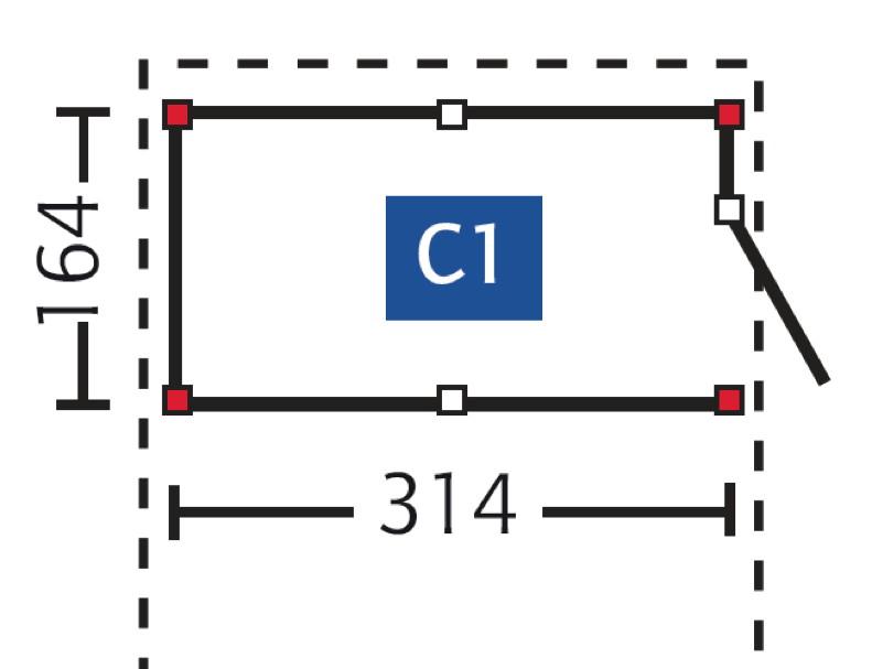 carport ger teraum skanholz abstellraum c1 fahrrad garage vom garten fachh ndler. Black Bedroom Furniture Sets. Home Design Ideas