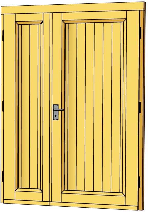 Holztür außen  Carport-Tür SKANHOLZ «Doppeltür 2/3 Teilung» Gartenhaus-Holztür ...