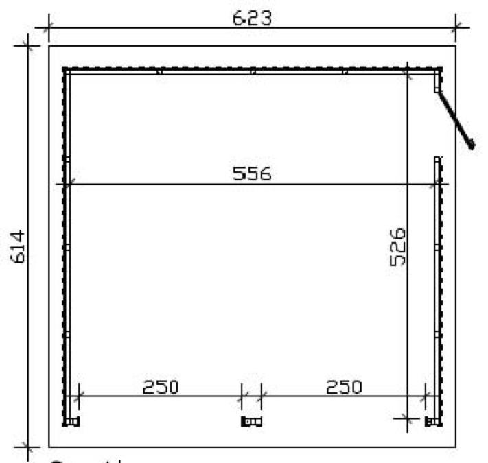 Fabulous Garage SKANHOLZ «Falun» Doppelgarage Holzgarage Bausatz BN78