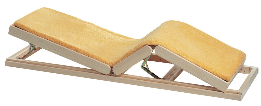 saunalux verstellbare saunabank vom sauna fachh ndler. Black Bedroom Furniture Sets. Home Design Ideas