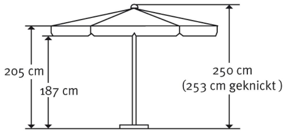 balkon sonnenschirm schneider oslo stockschirm 300 x 200 cm rechteckig ebay. Black Bedroom Furniture Sets. Home Design Ideas
