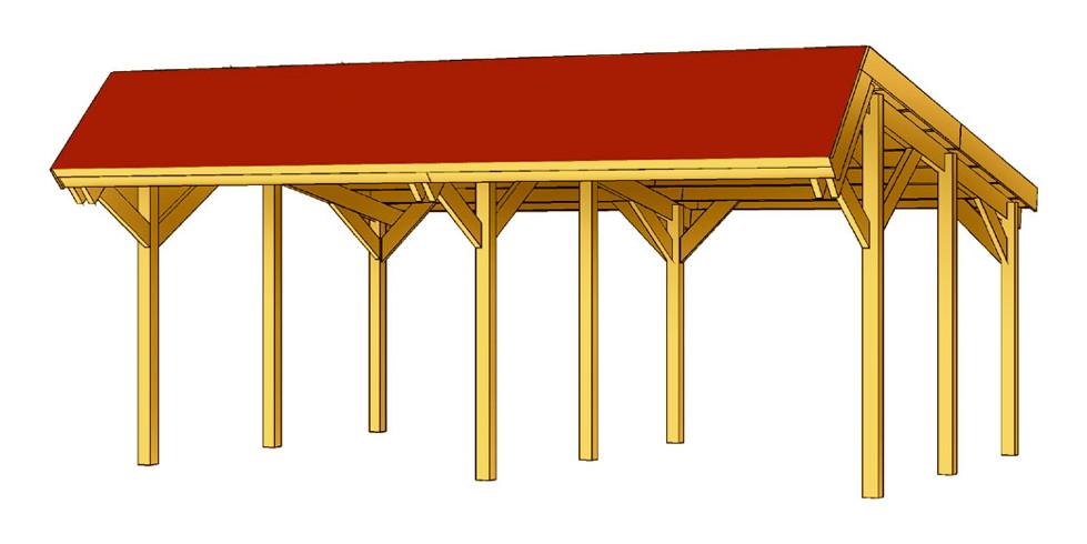 holz carport skanholz harz pultdach doppelcarport vom garten fachh ndler. Black Bedroom Furniture Sets. Home Design Ideas