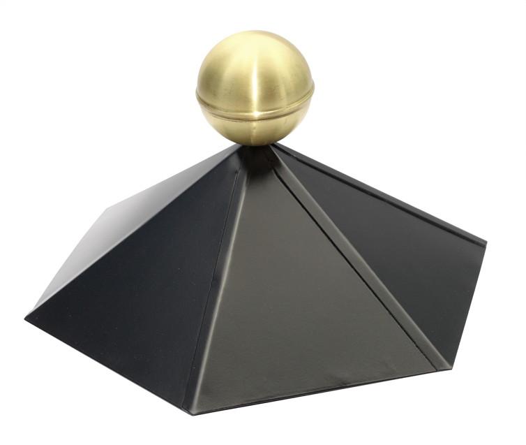 dachhaube skanholz pavillon colmar 6 eckig metall firstkappe mit messingkugel vom garten. Black Bedroom Furniture Sets. Home Design Ideas