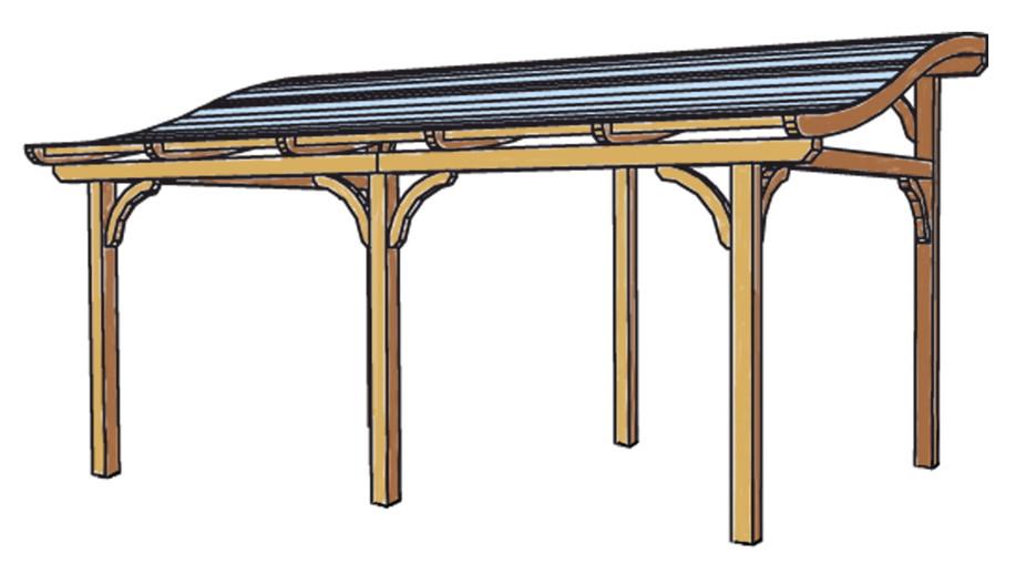 terrassen berdachung holz bausatz skanholz tivoli freistehend geschwungen terrassendach. Black Bedroom Furniture Sets. Home Design Ideas