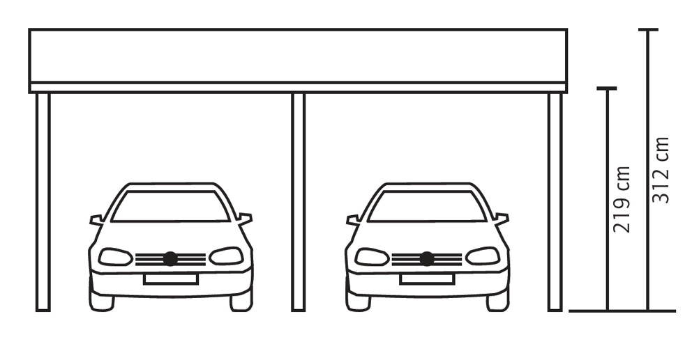 holz carport skanholz harz pultdach doppelcarport carports aus holz g nstig kaufen im shop. Black Bedroom Furniture Sets. Home Design Ideas