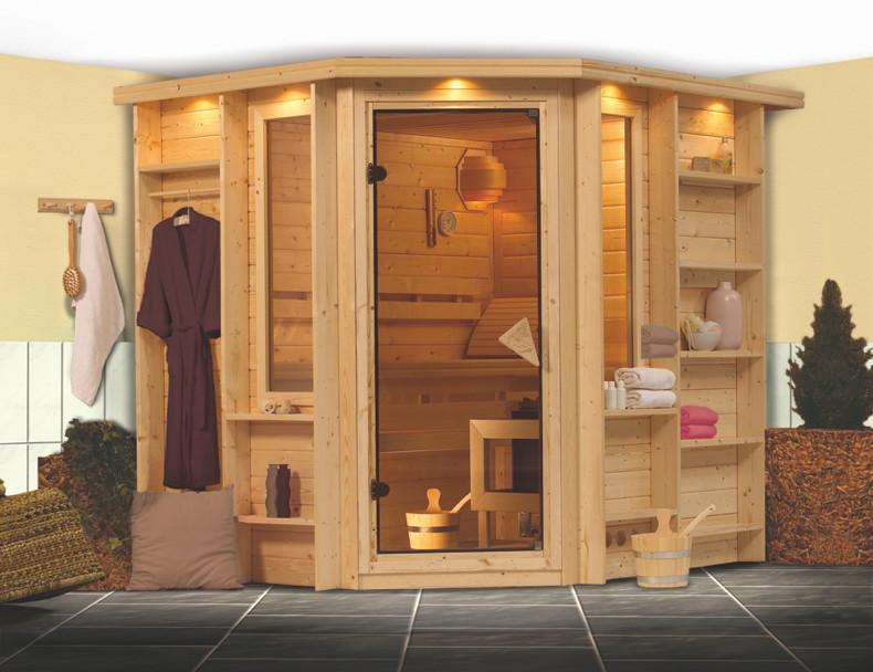 heimsauna karibu cortona eckeinstieg sauna heimsauna selbstbau sauna. Black Bedroom Furniture Sets. Home Design Ideas