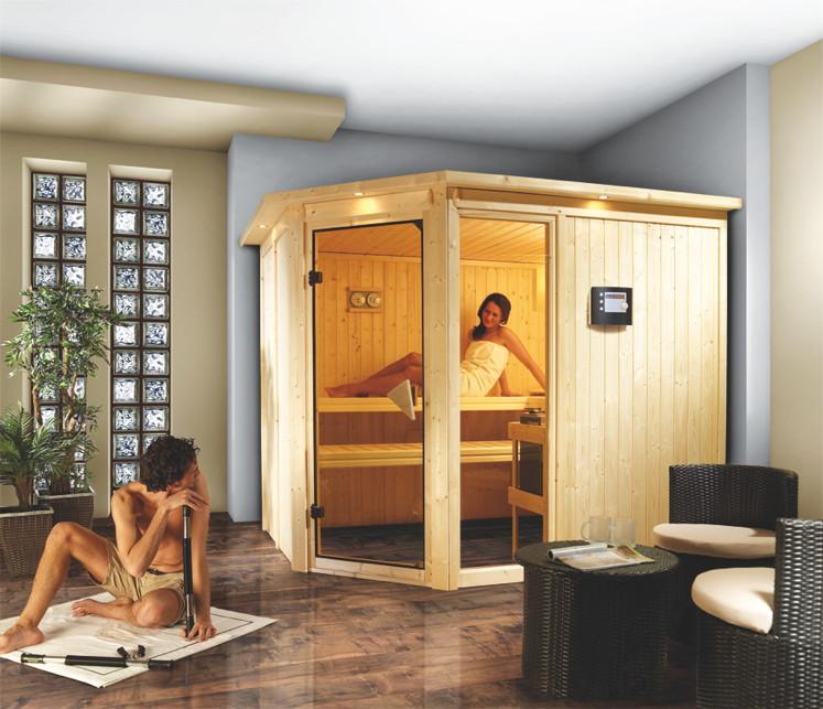 heimsauna karibu fiona 3 eckeinstieg sauna. Black Bedroom Furniture Sets. Home Design Ideas
