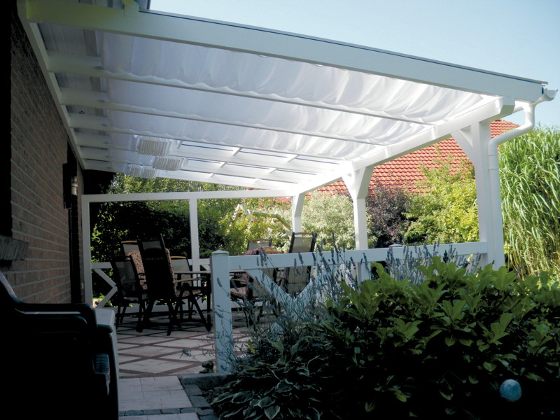 Terrassenüberdachung SKANHOLZ Sonnensegel 434 x 250  Holz Angebot
