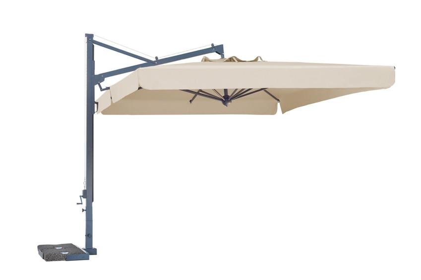 Sonnenschirm SCOLARO Galileo Dark 3x4 Ampelschirm, Aluminium hanging Parasol