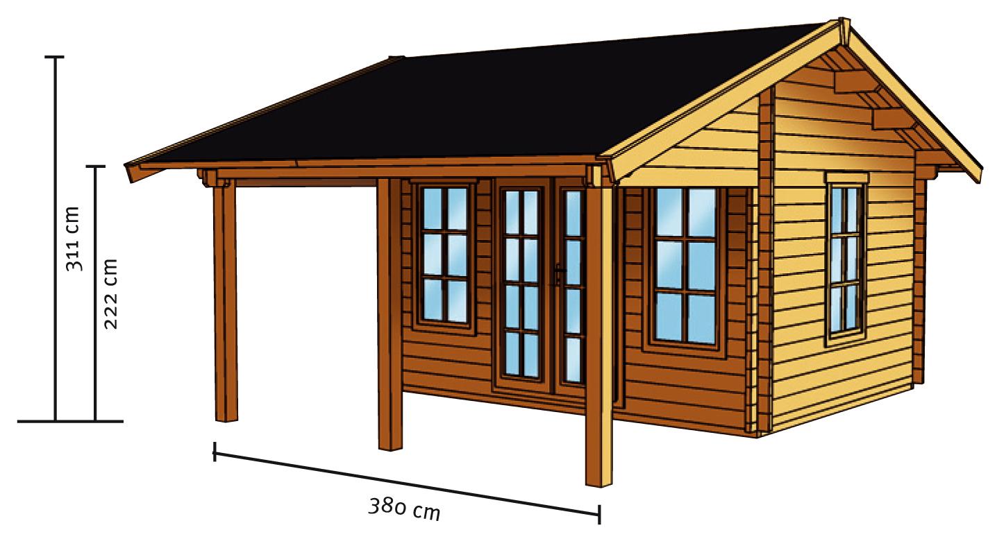 gartenhaus skanholz luzern mit gro er berdachung gartenhaus aus holz g nstig kaufen im shop. Black Bedroom Furniture Sets. Home Design Ideas