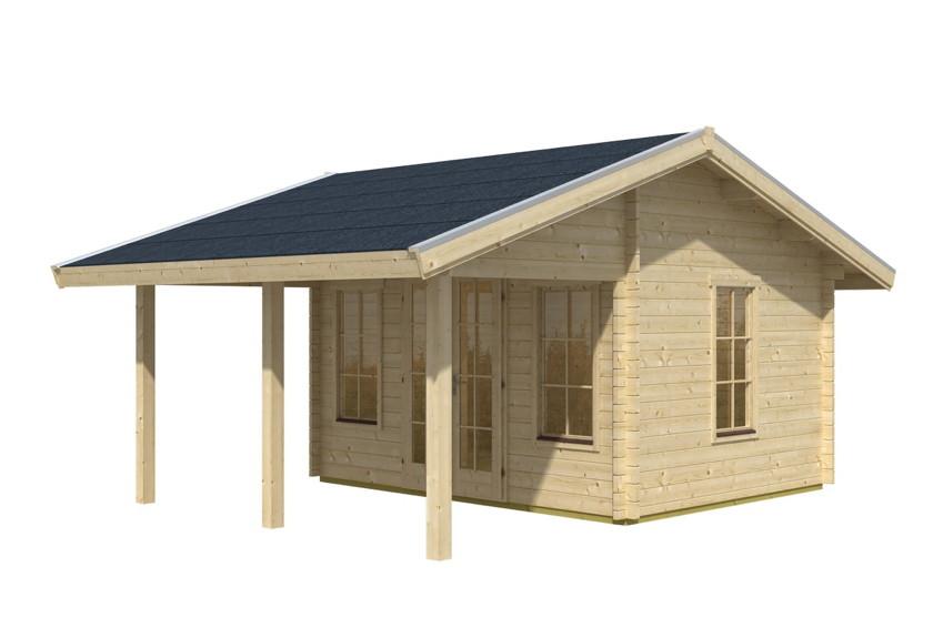 gartenhaus skanholz «luzern» mit großer Überdachung | gartenhaus, Moderne