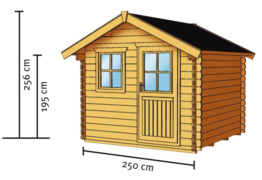 gartenhaus skanholz porto blockbohlen holzhaus mit. Black Bedroom Furniture Sets. Home Design Ideas