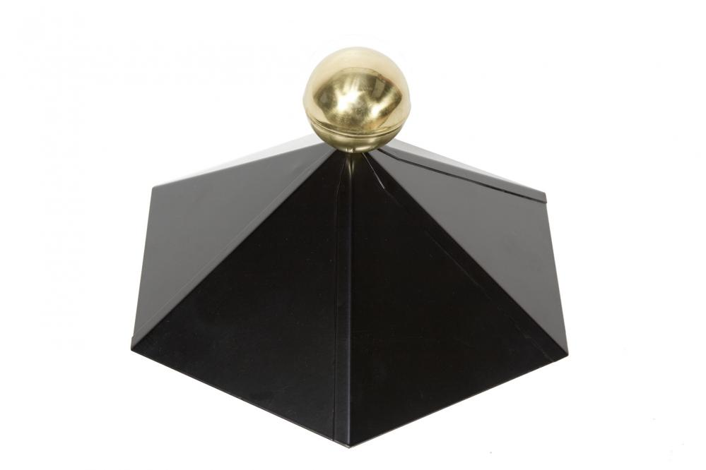 metall dachhaube f r holz pavillon schwarz 6 eckig mit. Black Bedroom Furniture Sets. Home Design Ideas