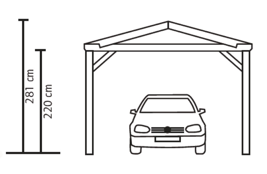 holz carport skanholz westerwald satteldach einzelcarport ebay. Black Bedroom Furniture Sets. Home Design Ideas