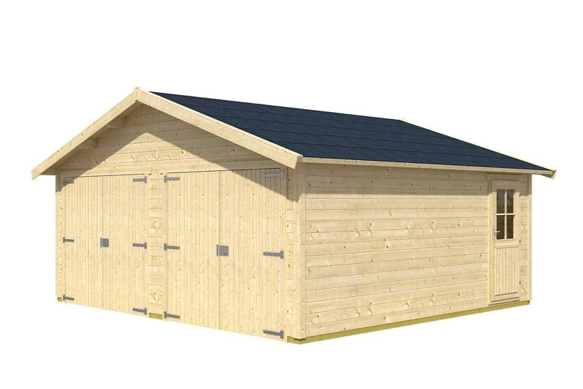 garage skanholz visby doppelgarage 28 mm holzgarage garagen aus holz g nstig kaufen im. Black Bedroom Furniture Sets. Home Design Ideas