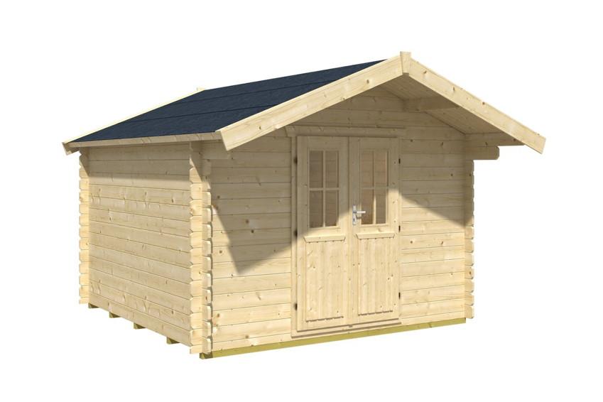 Doppeltür Holz gartenhaus skanholz faro blockbohlen holzhaus doppeltür holz