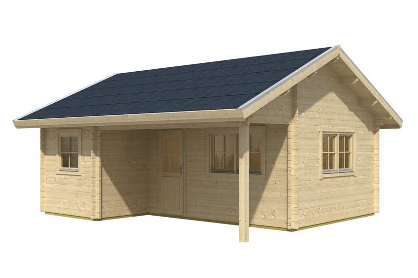 Attractive Gartenhaus SKANHOLZ «Ontario» Ferienhaus überdachter Eingang | Holz Angebot